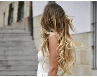 """18"""" Tape in Indian remy 100% human Hair Extensions. OMBRE -shades! WOW"""