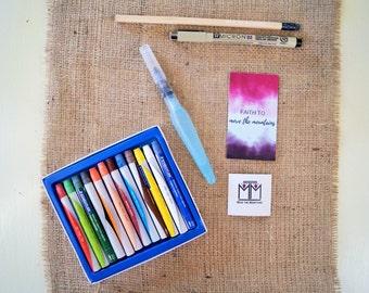 Watercolor Paint Set - Bible Journaling - Watercolor Paint - Crayon Style