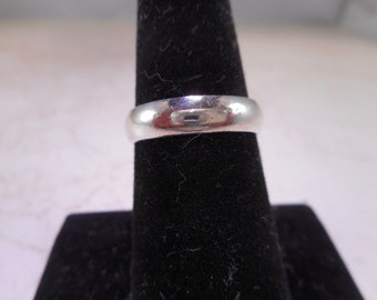 Sterling Silver Dome Wedding Band Size 6.25 4.6 mm Wide