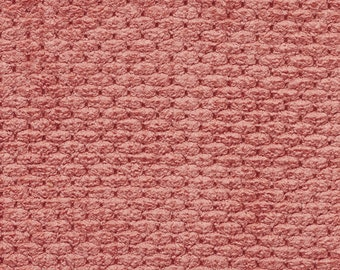 Persimmon Soft Textured Plush Woven Upholstery Chenille Velvet Fabric By The Yard   Pattern # A629