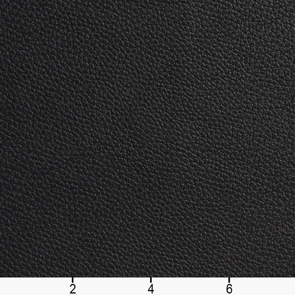 Black Bison Pronounced Leather Grain Upholstery Grade