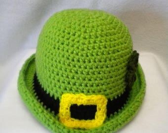 Crochet Leprechaun Derby/Bowler hat