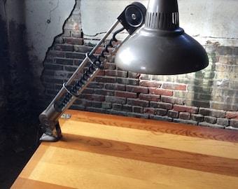 Mid century desk lamp industrial clamp lamp mid century adjustable lamp