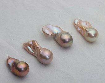 Fireball Pearl,Flameball Pearl,Large Irregular Nuclear Pearl,14.5-17mm*28-35mm ,FBP001
