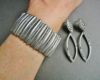 Stainless ladies expansion bracelet, mod stainless expansion, statement expansion bracelet, dark silver expansion bracelet, hip expansion