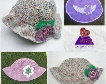 Womens sunhat, wide brimmed adult sunhat **Made to Order** cotton adult hat, crochet sun hat, summer hat, rainbow sunhat, custom colours