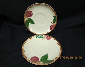 Franciscan Apple Pattern Saucers (2)