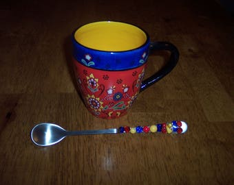 Mug with Beaded Jar Spoon