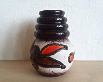 Vintage Scheurich vase ... Wien ... Vienna ... Fat Lava decor ... 269 - 15 ... WGP
