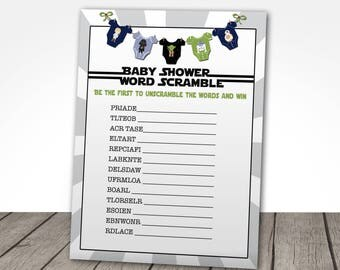 Star Wars Baby Shower Game, Starwars Baby Shower Game, Word Scramble Baby  Shower Game