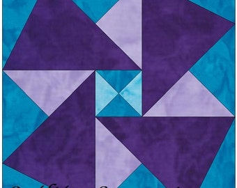 Origami 6 Inch Paper Foundation Quilting Block Pattern