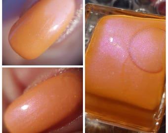 Dutch Tulips~Single Ladies Indie Nail Polish Orange Purple Holo Limited Edition 10ML