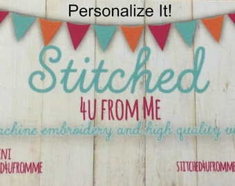 Personalize it!  Add a Name