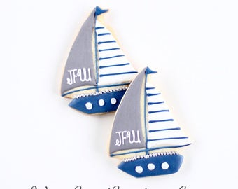 Half Dz. Sailboat Cookies! Sail the 7 Seas!