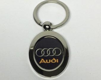 Audi metal keychain