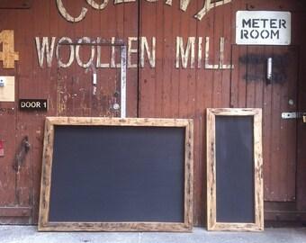 Rustic Chunky Chalkboard, Wall Hung Blackboard, Menu Sign, Recycled Timber,