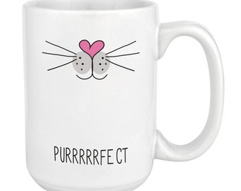 Purrrfect Cat Face 15oz Mighty Mug Cup