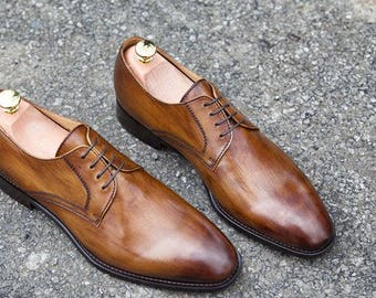 Mr. Angus - made to order leather shoes with personalisation available (fantastic wedding shoes and/or gift)