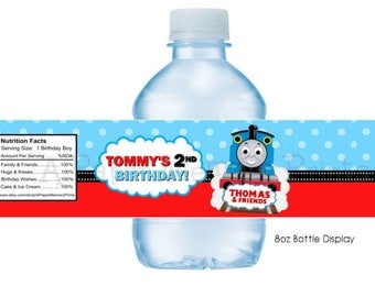 Thomas The Train Water Bottle Labels DIY Printable