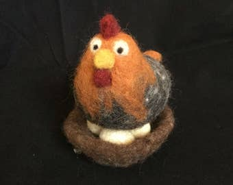 Small Needle Felted Chicken