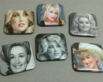 Fridge Magnets, Dolly Parton, Custom Magnets, Country Girl, Magnet Set, Refrigerator Magnet