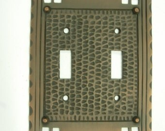 Double Toggle Mission Arts & Crafts Switch Plate