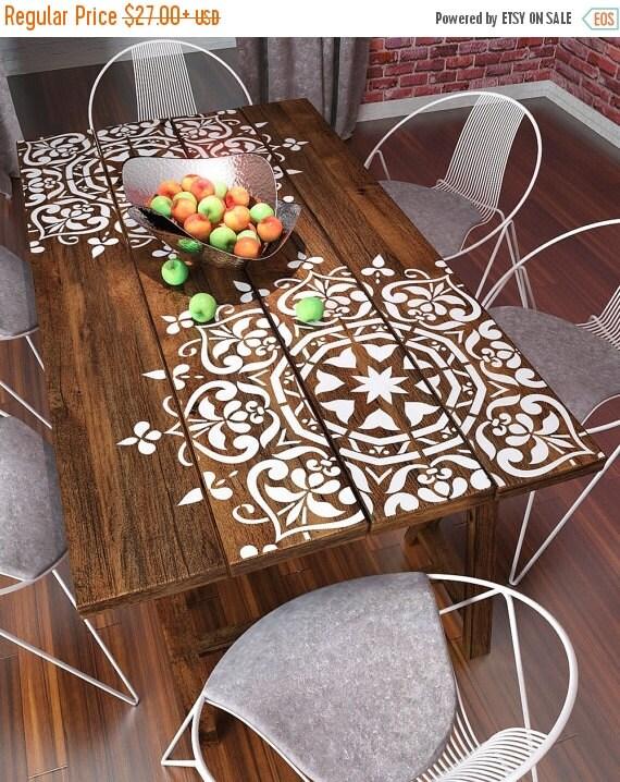 Plantillas de venta mandala estilo stencil por stencilslabny for Plantillas para decorar muebles