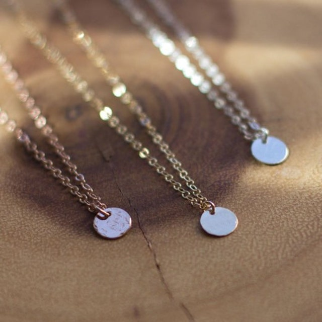 delicate jewelry handmade in charleston sc by thistleandthatch