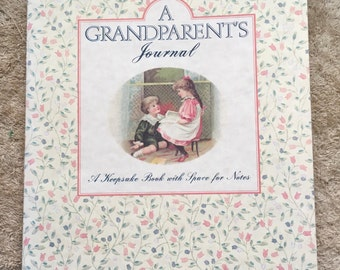Vintage A Grandparent's Journal Family History Grandmother Grandfather Grandma Grandpa Keepsake Book