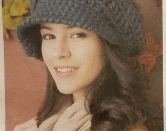 Hand-Crocheted Brimmed and Roomy Over-sized Slouchy Hat