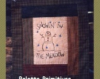 Snowin In The Meadow Stitchery E-pattern/Instant Download