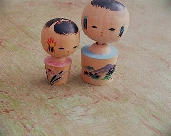 Mini Kokeshi Dolls