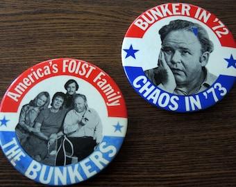 Archie Bunker Campaign Buttons 1972