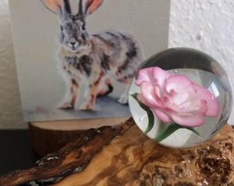 Rose flower marble