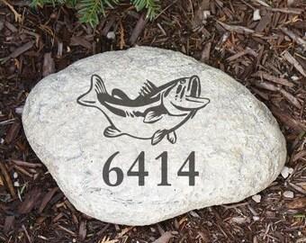 Personalized Garden Stone, Address Garden Stone, Engraved Garden Stone,