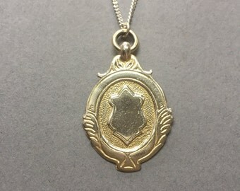Vintage 1940's Sterling Silver Fob Pendant on a Chain