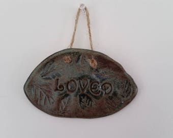 Loved: Inspirational Ceramic Wall Hanging