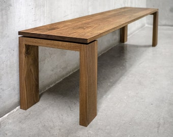 Solid Black Walnut Bench *