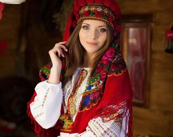 Ukrainian female headdress Bright crown Woven tape, Headband Women hairband Ukrainian souvenir!