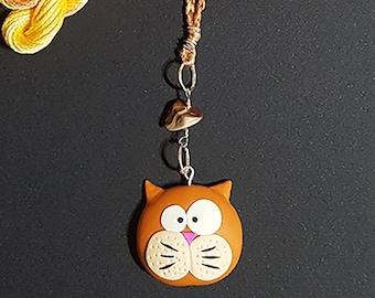Cat Scissor Keeper - polymer clay