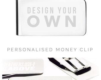 Mens Money Clip | Mens Gift | Personalized Money Clip | Design your own money clip