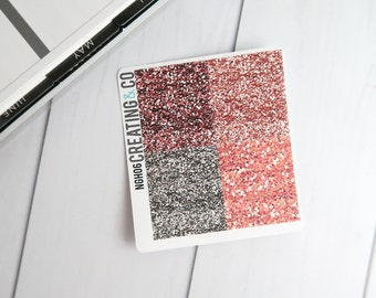 Faux Glitter Header Planner Stickers for a Variety of Planners to match Love Yourself - NGH06