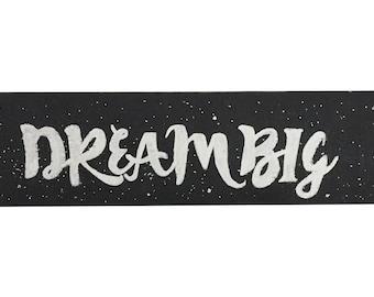 Dream big handpainted wooden nursery sign decor