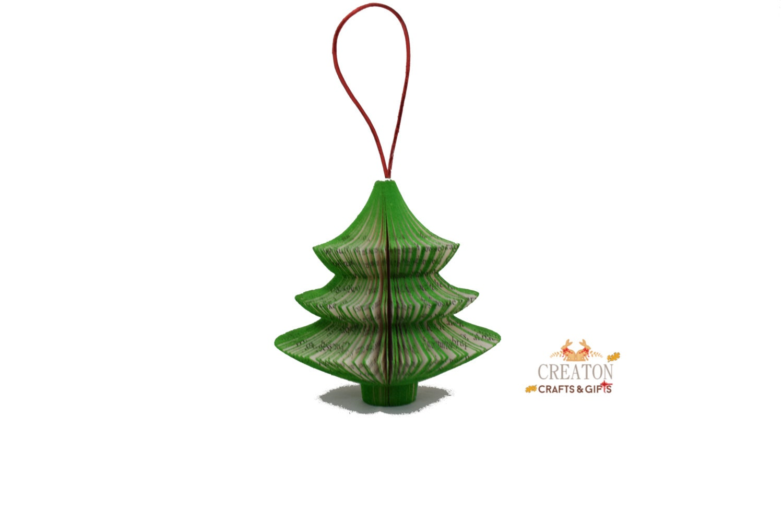 Book Art Christmas Tree Ornament Hanging Christmas Tree