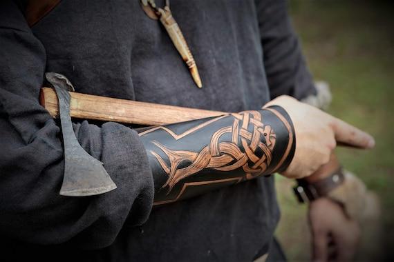 Fully Custom Tooled Viking Knotwork Bracer