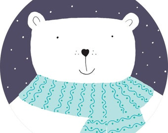 Polar Bear Mini Pocket Mirror - Perfect Party Favour!