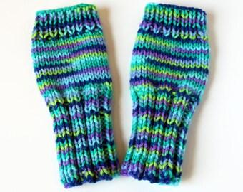 Girls Fingerless Gloves, Cute Girls Gloves, Tween Girls Gloves, Wildflower Gloves, Spring Bloom, Fingerless Kid Gloves, Cute and Warm