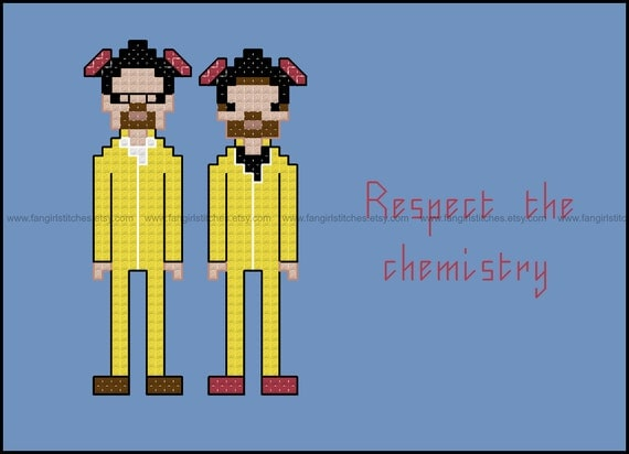 Breaking Bad Inspired Respect The Chemistry Cross Stitch