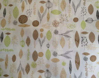Scandinavian fabric 100% Cotton fabric  - Cotton canva - 150 cm wide - Botanical