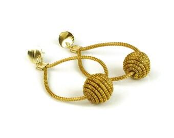 Drop Earrings, Beaded Drop Earrings, Organic Drop Earrings, Oval Earrings, Dangle Earrings